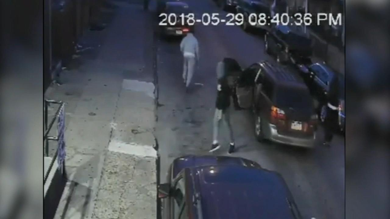 Video shows 4 suspects in shooting that injured man, girl