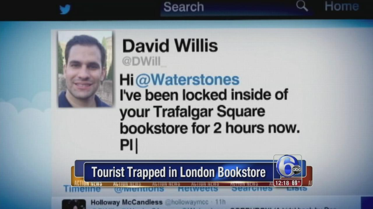 VIDEO: Tourist locked in London bookstore
