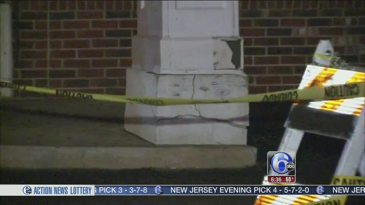 VIDEO: Crumbling pillar closes CVS pharmacy in South Phila.