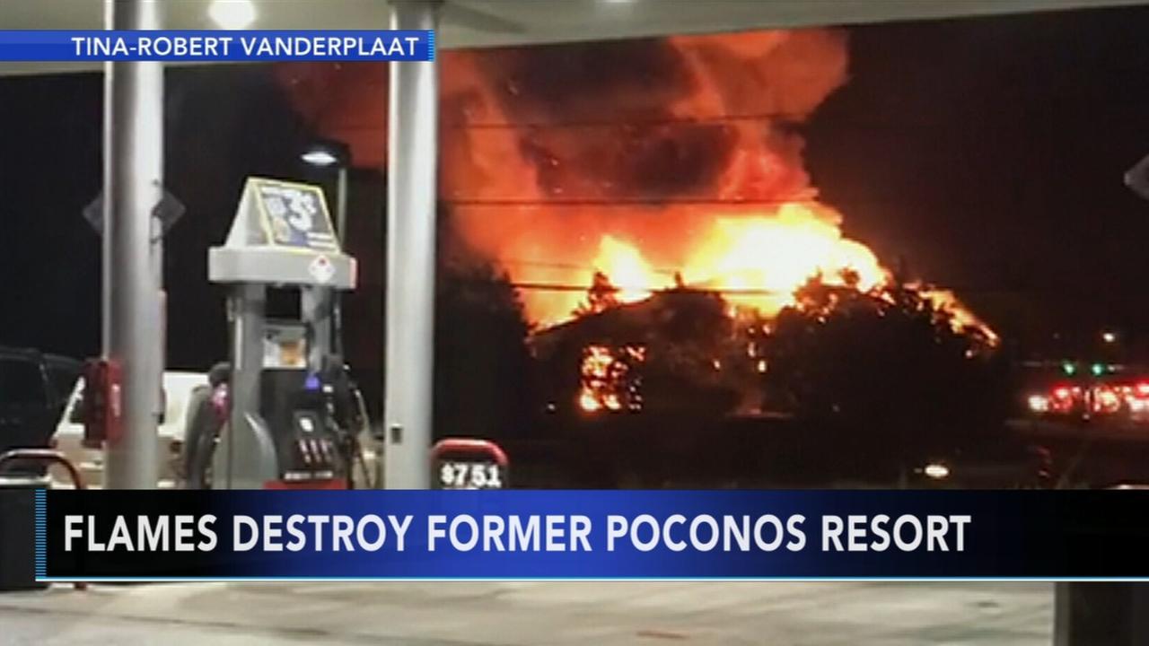 Flames destroy former Poconos resort