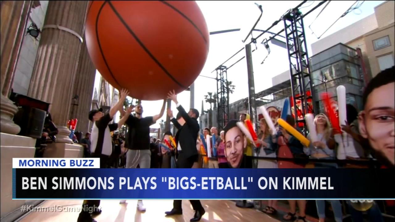 Ben Simmons plays Bigs-etball on Kimmel