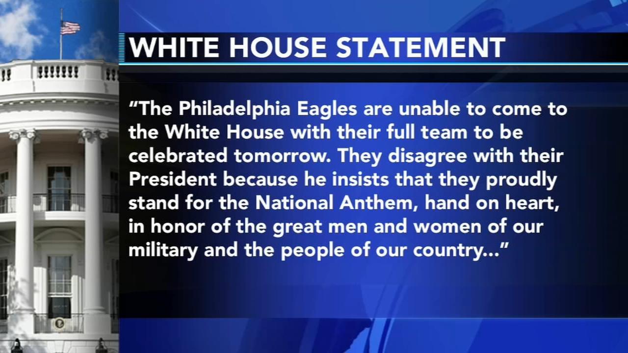 President Trump rescinds Eagles invitation to White House