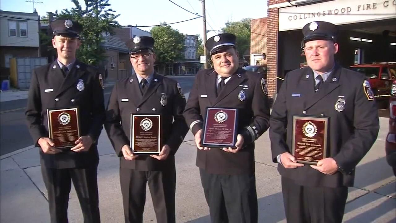 Collingswood firefighters honored
