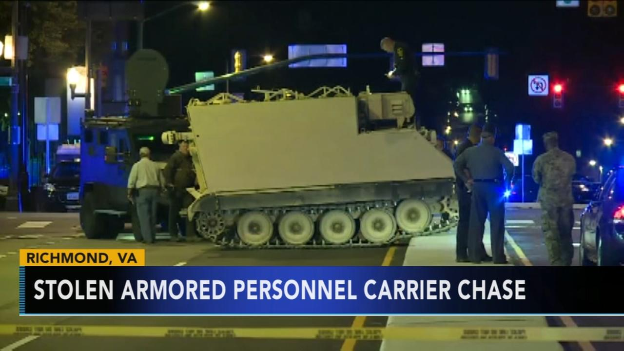 Police: Man steals armored vehicle from National Guard base
