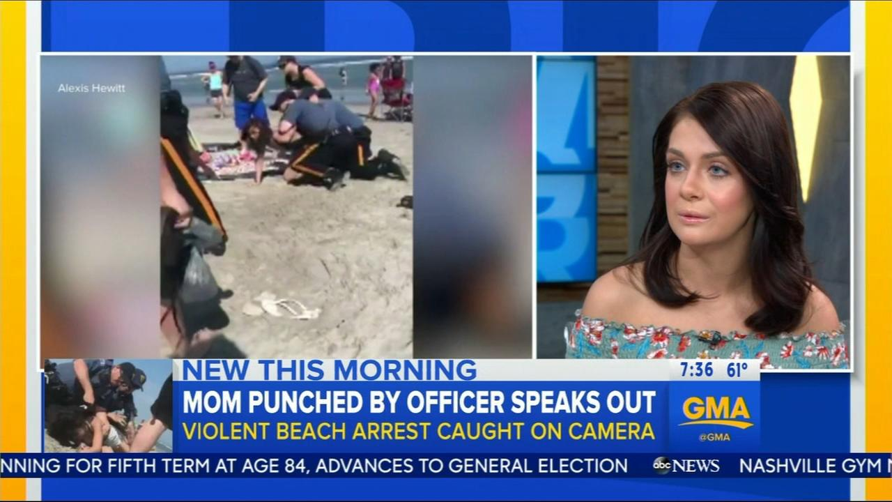 Mom punched by officers speaks out