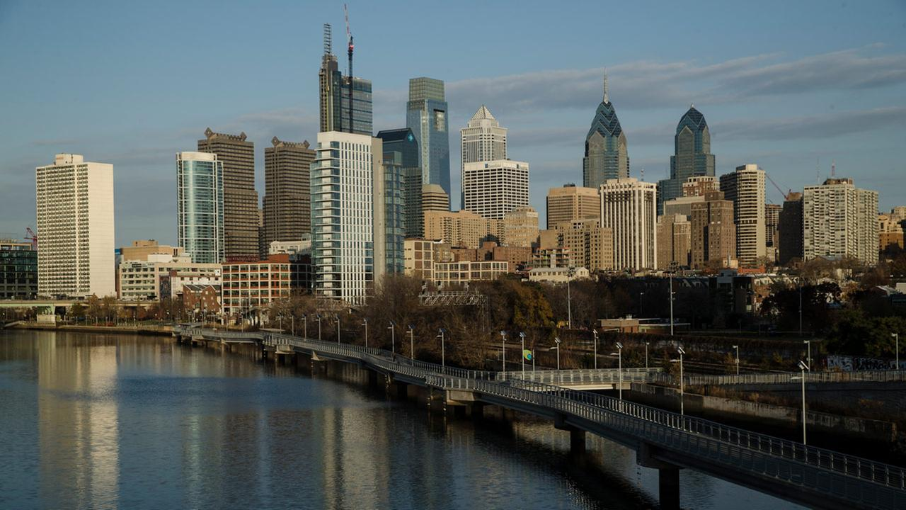 Shown is the Schuylkill River and view of the Philadelphia skyline, Thursday, Nov. 30, 2017.