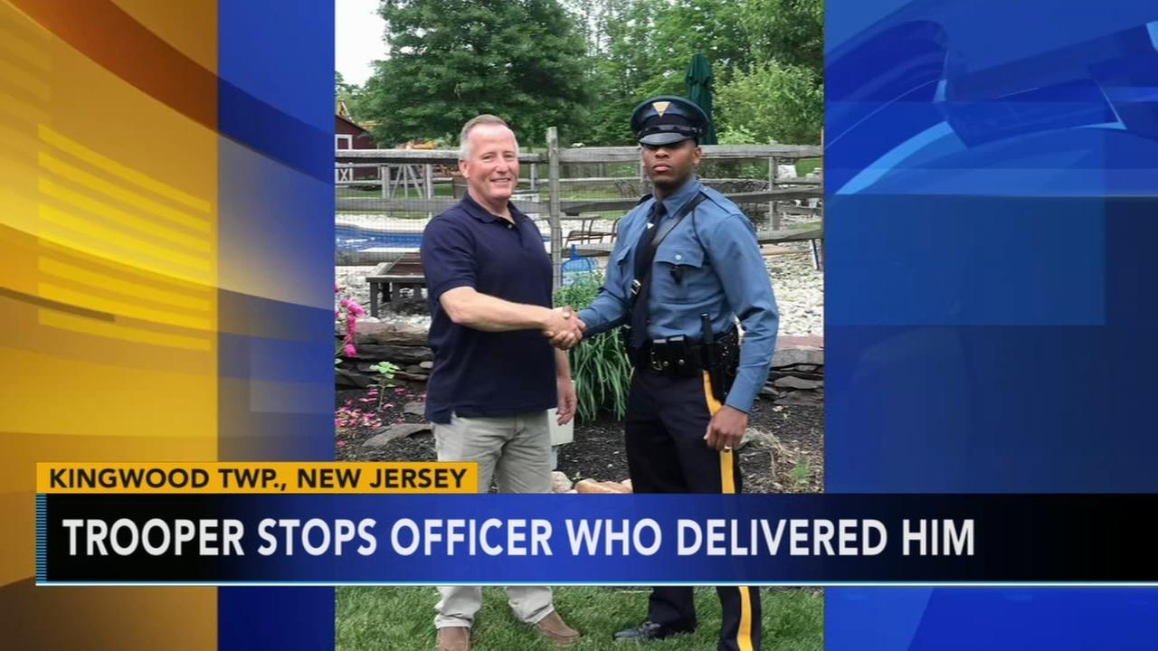 Trooper stops officer who delivered him