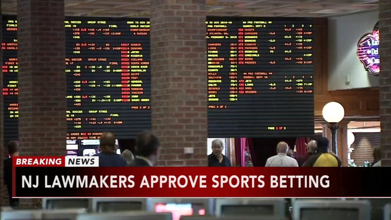 New Jersey Legislature OKs bill to legalize sports betting