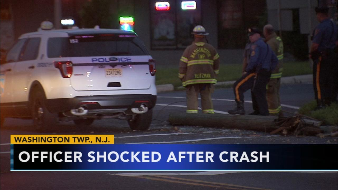 Crash involving police vehicle in Washington Twp.; officer shocked