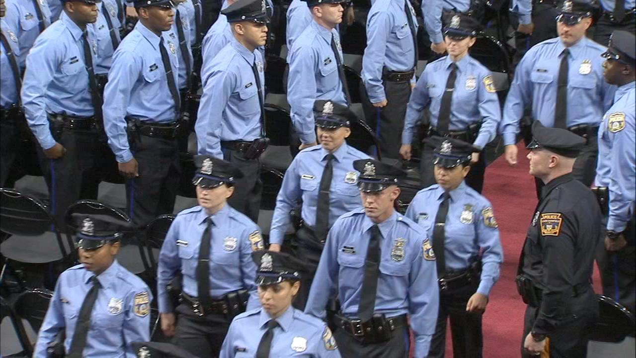 Newest members of the Philadelphia police force.