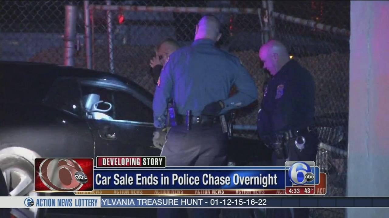 VIDEO: Car sale leads to police chase, crash