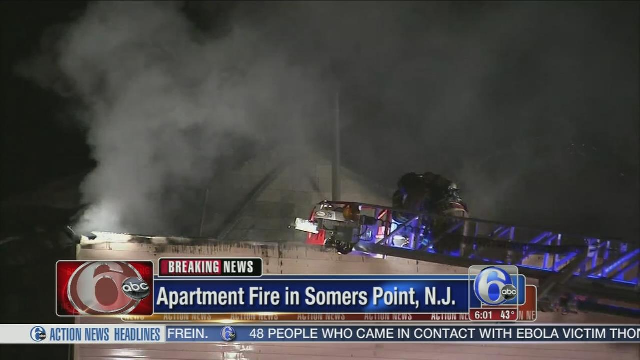 VIDEO: Fire damages apartments in Somers Point, NJ
