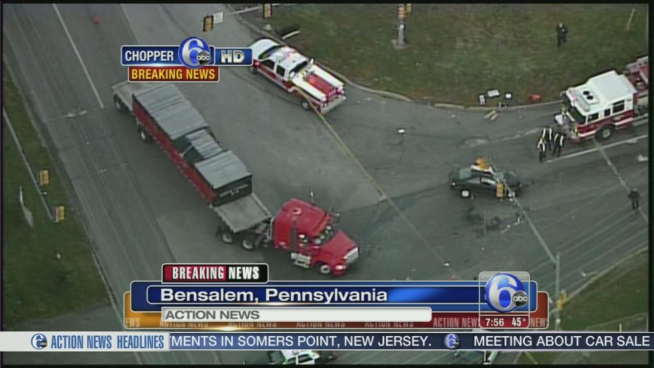 VIDEO: Deadly crash shuts down Street Rd. in Bensalem