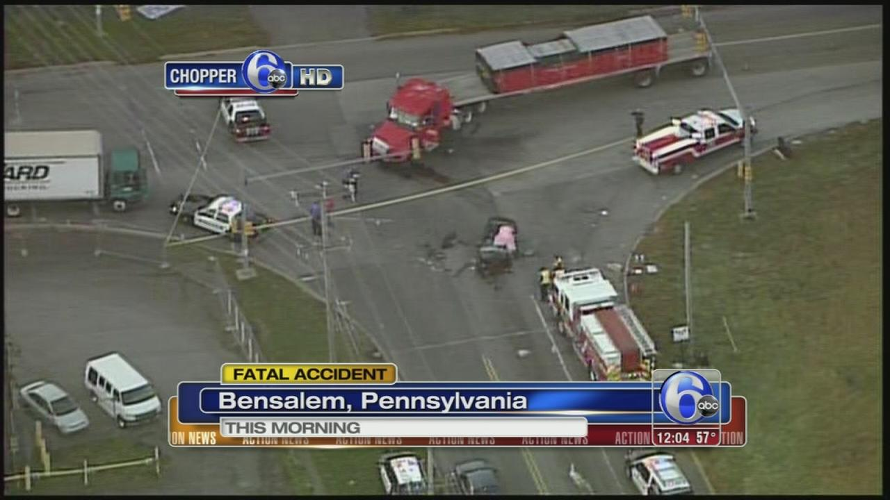 VIDEO: Motorist killed in head-on crash in Bensalem