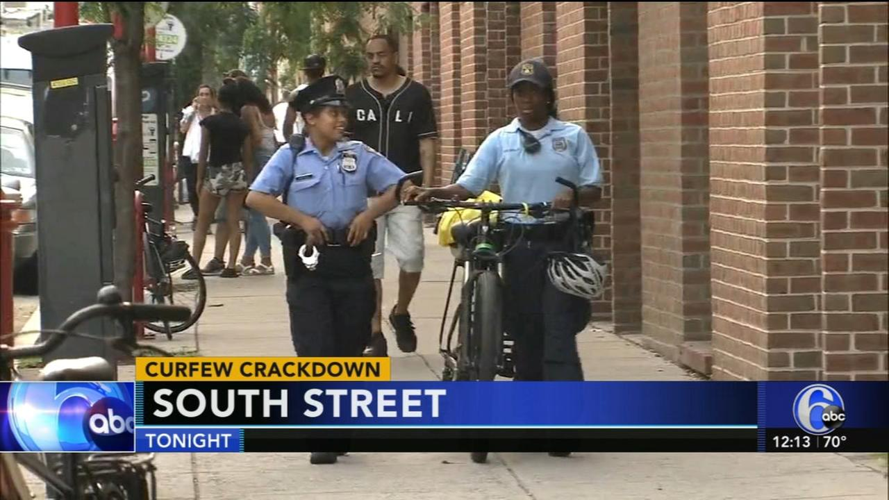 Curfew crackdown begins this weekend along South Street corridor