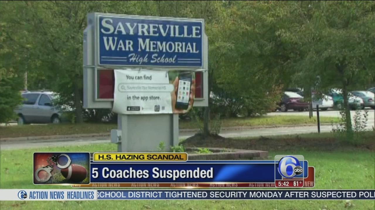 VIDEO: 5 coaches suspended at NJ school amid hazing scandal