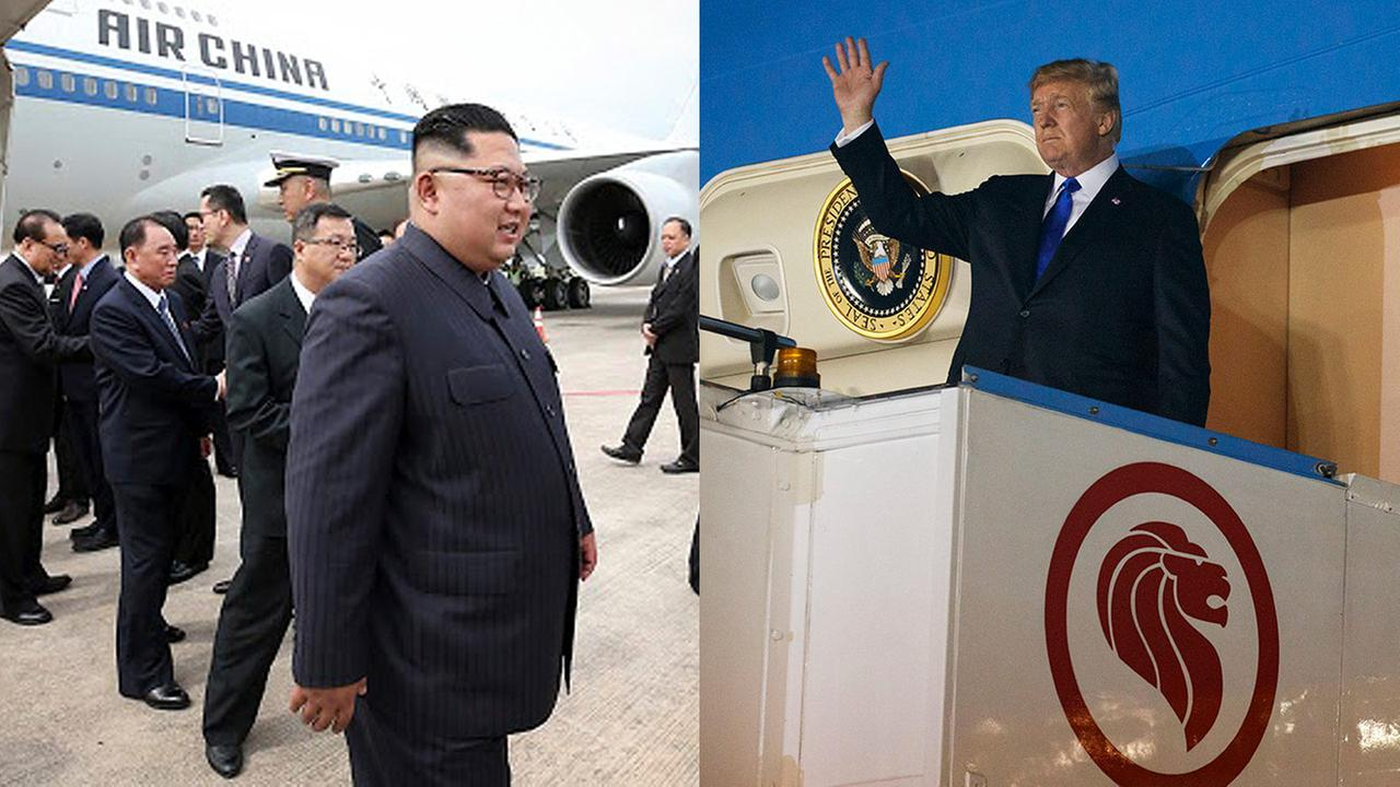 President Trump arrives in Singapore ahead of summit with Kim Jong Un
