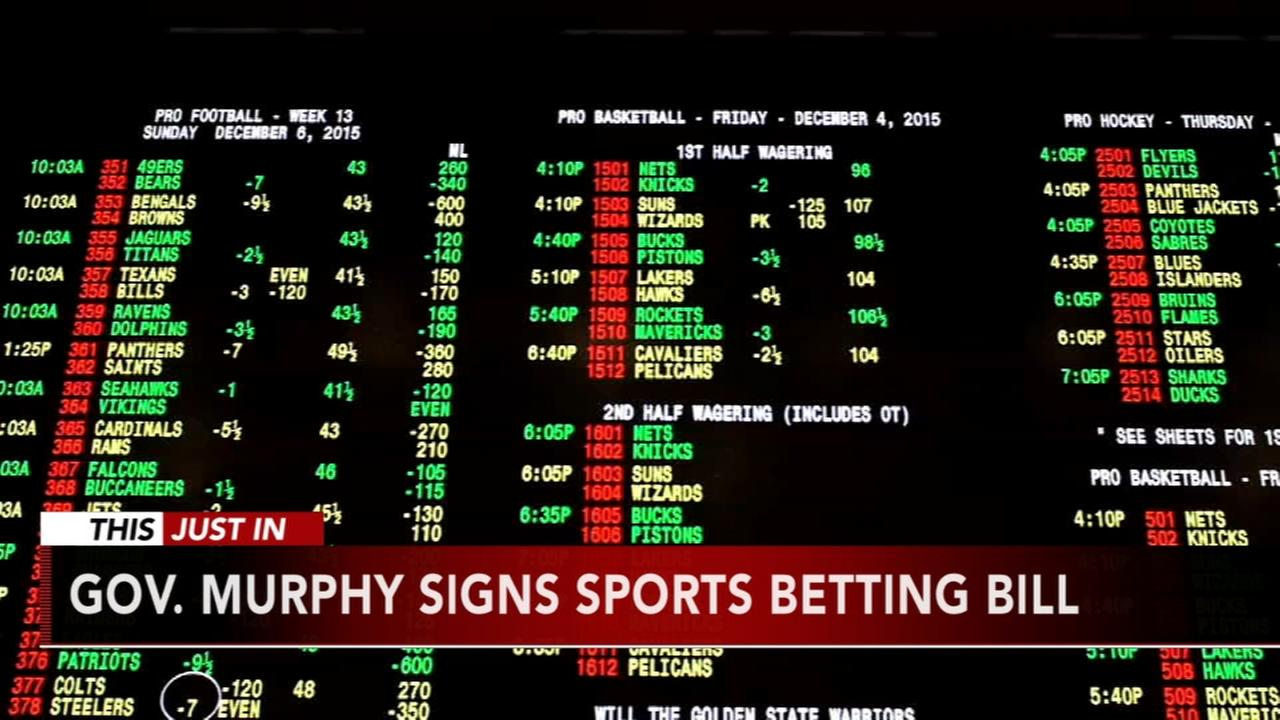 Governor Phil Murphy signs sports betting bill into law