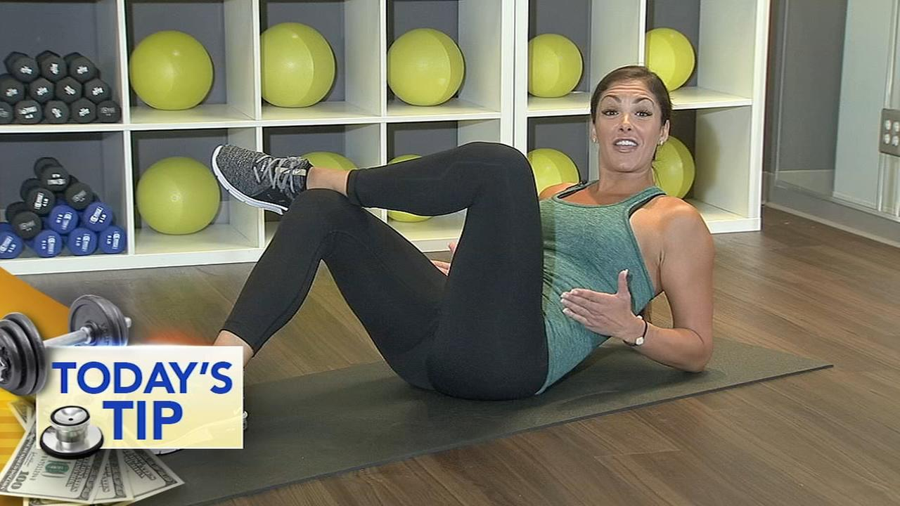 Work those abs! - Todays Fitness Tip