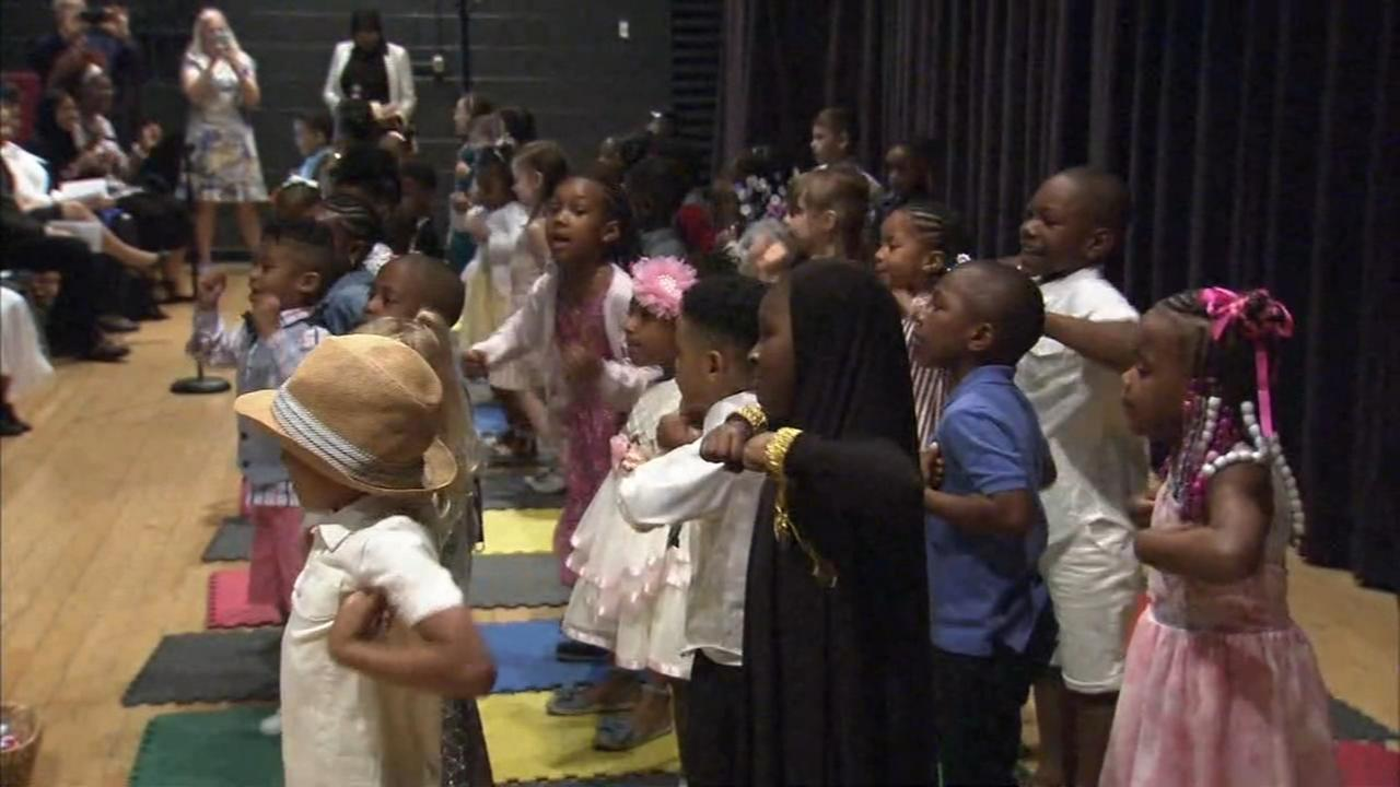 Preschool students stole the show with their musical talents.