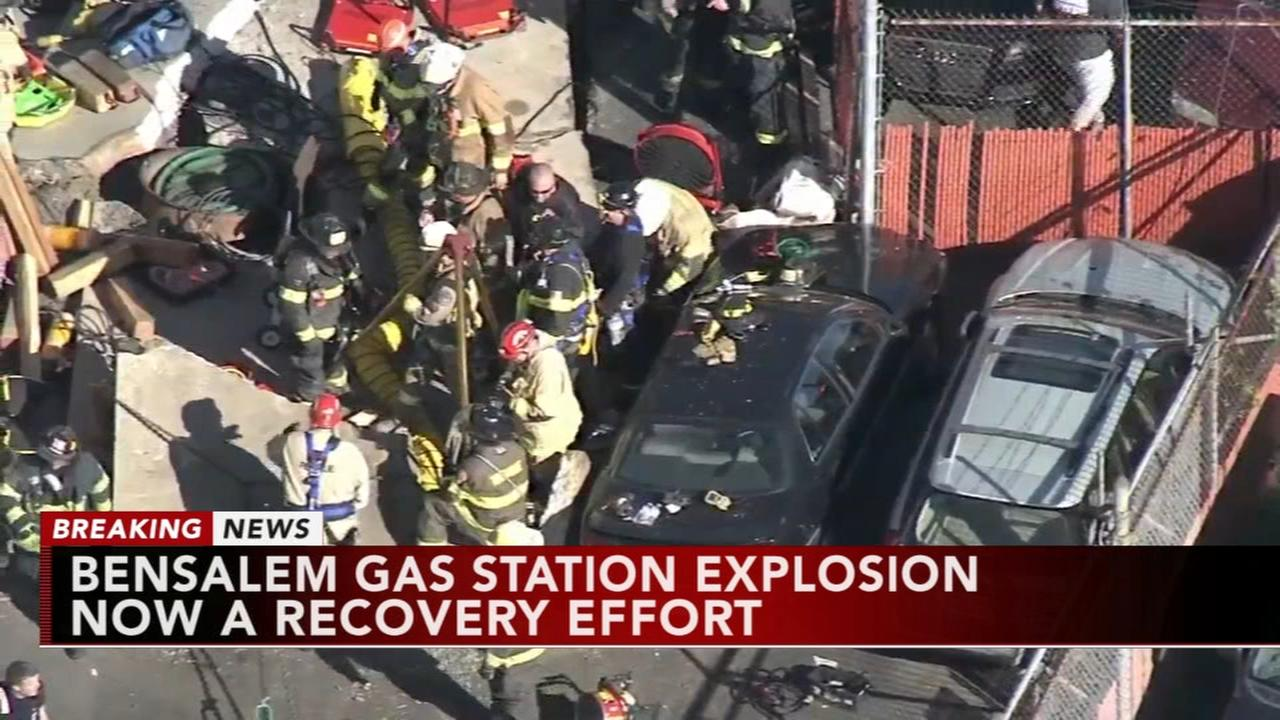 Recovery mission continues after gas station explosion