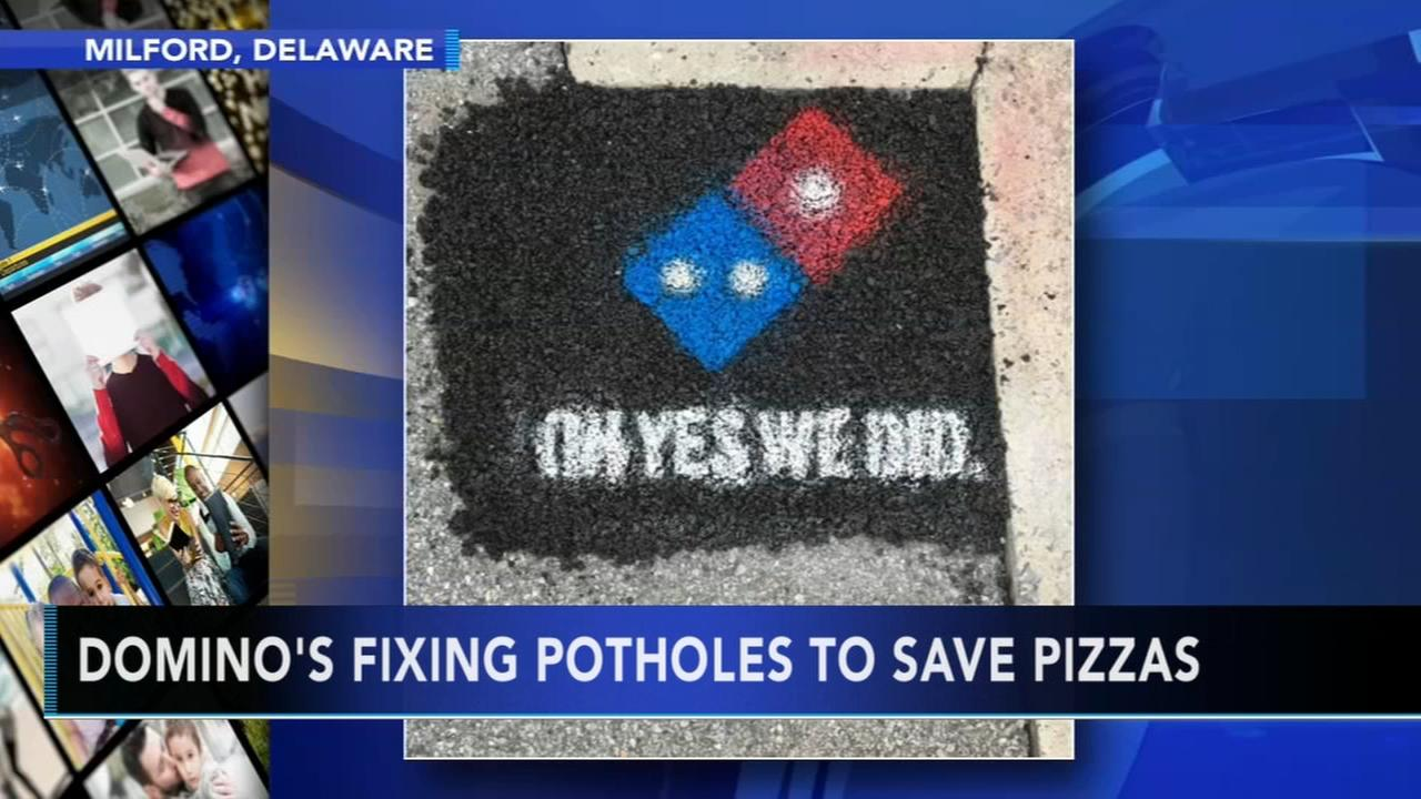 Dominos fixing potholes to save pizzas