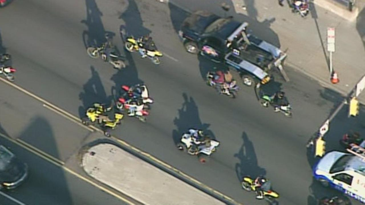 Aggressive group of ATVs on Philly streets