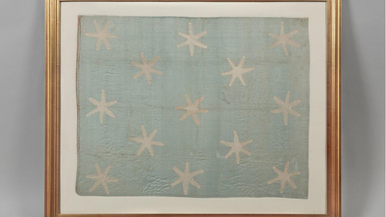 Washington's battlefield flag on view at revolution museum
