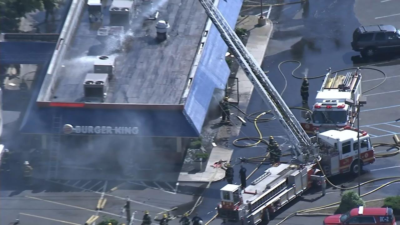 Fire erupts at Burger King in Northeast Philadelphia