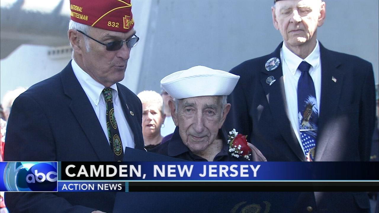 100-year-old veteran honored on Battleship New Jersey