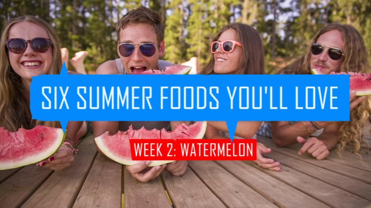 Summer foods: Watermelon and watermelon water ice