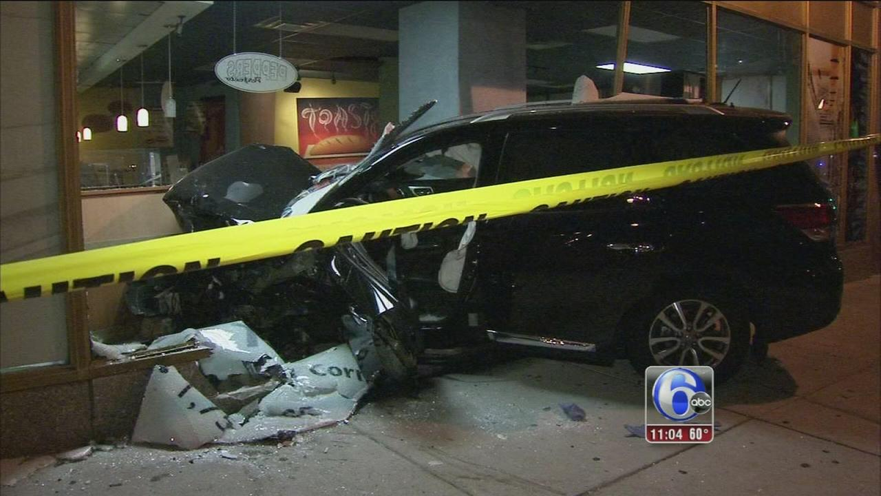 VIDEO: SUV crashes in Center City