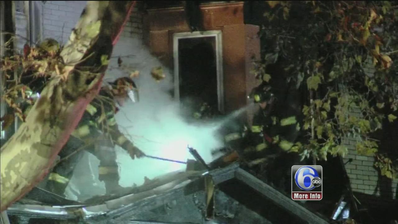 VIDEO: Fire damages homes in Hunting Park