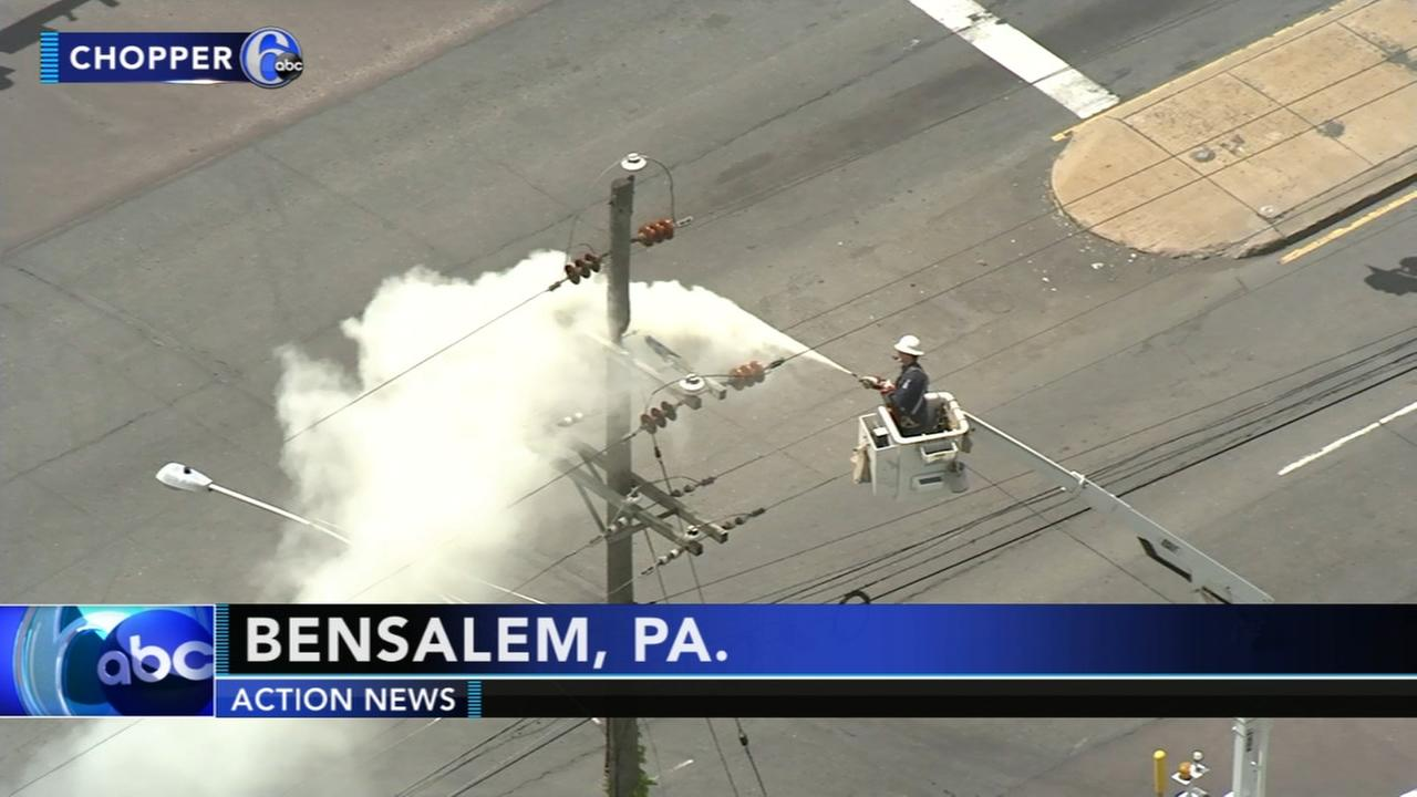Interstate 95 reopens in Bensalem after utility pole fire