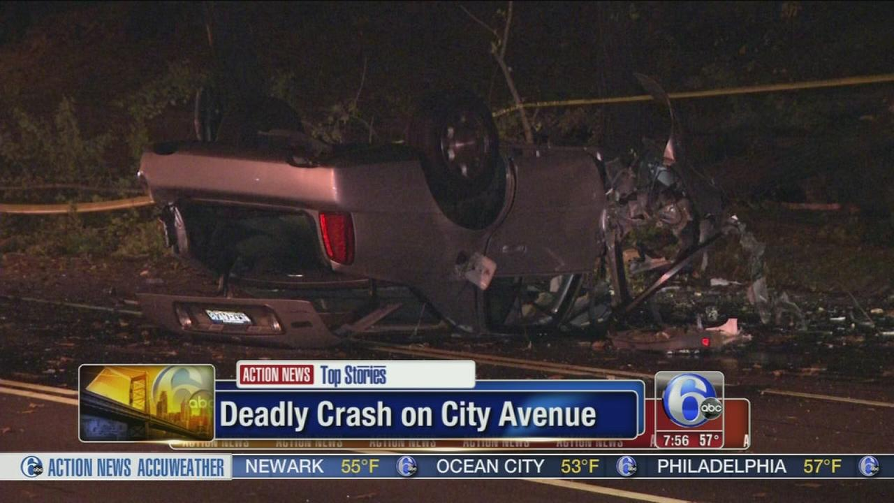 VIDEO: Deadly crash on City Avenue
