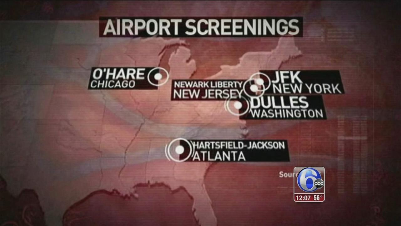 VIDEO: Ebola airport checks expand