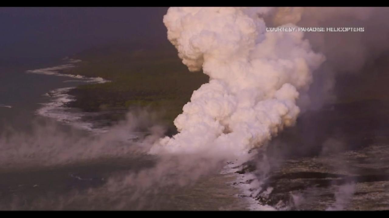 Hawaiis Kilauea volcano continues to ooze lava