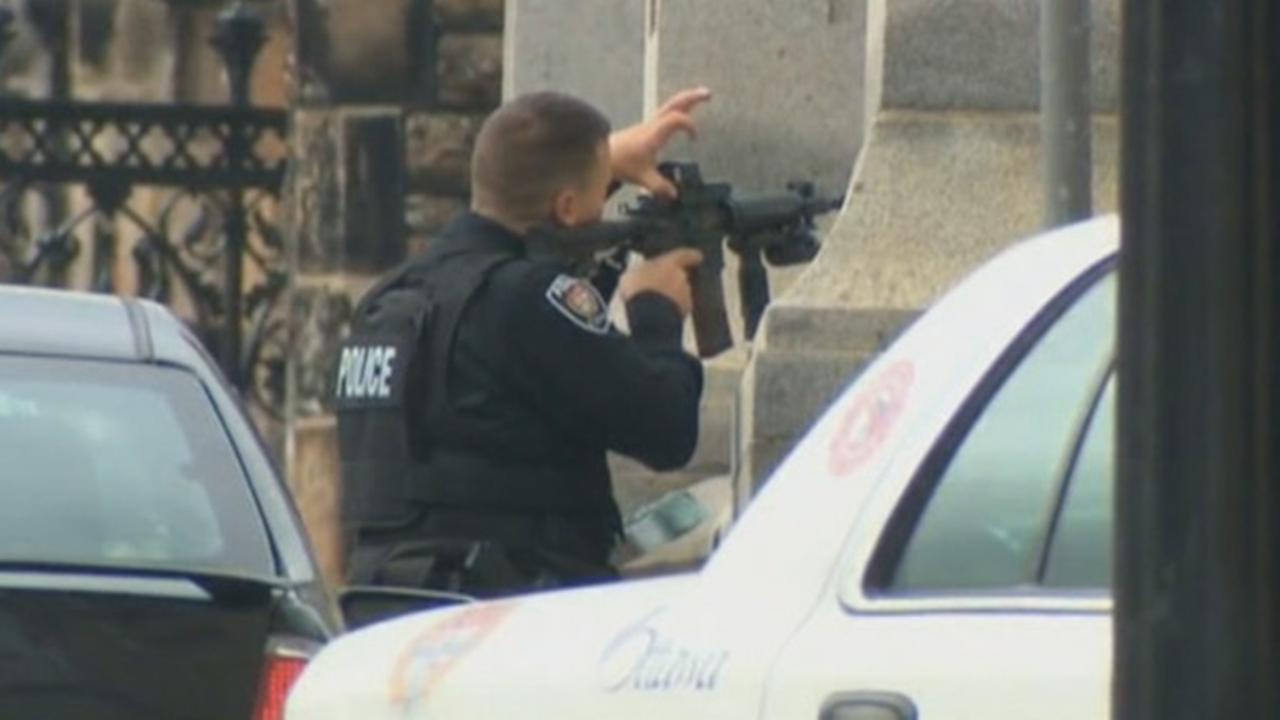 Photos captured the chaos as gunfire erupted in and around the Canadian Parliament in Ottawa.