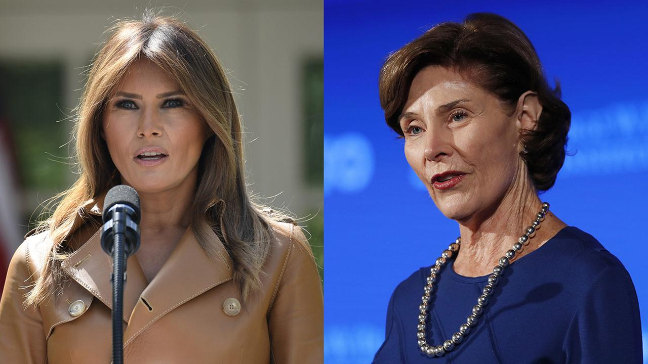First Lady Melania Trump / Former First Lady Laura Bush