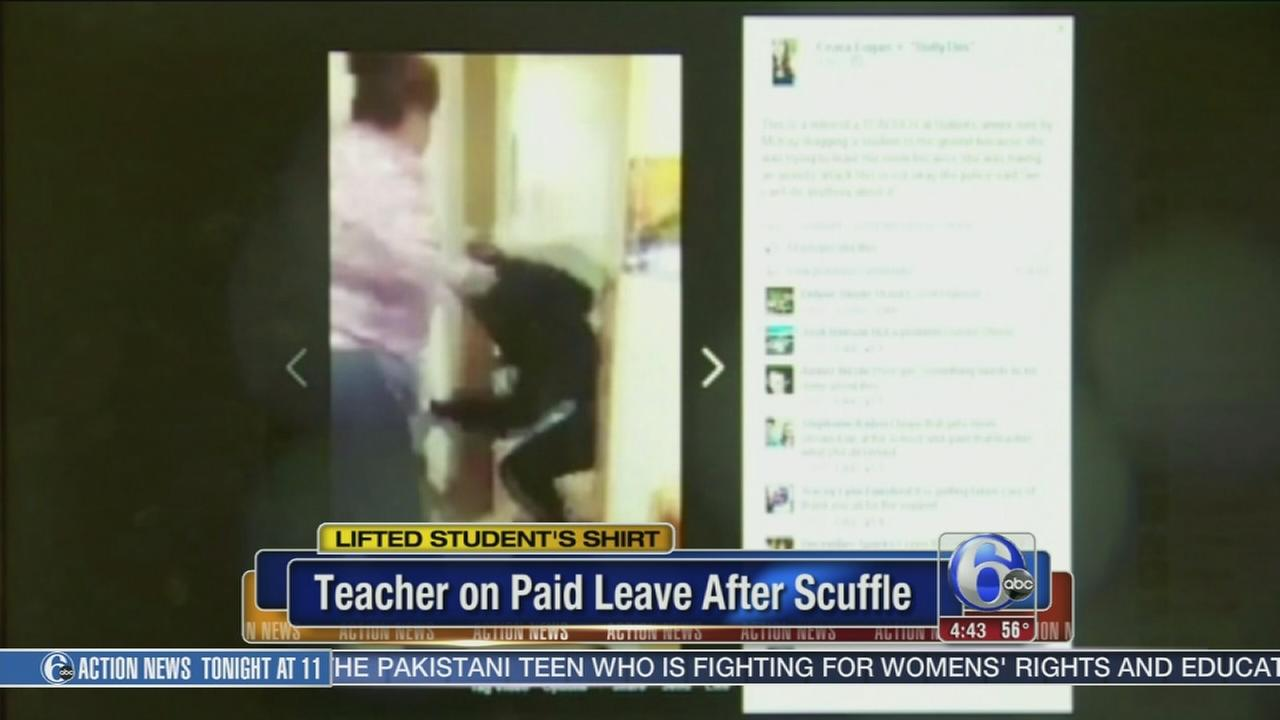 VIDEO: Teacher on paid leave after stuffle