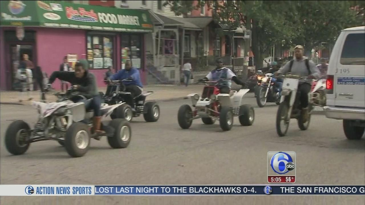 VIDEO: Police respond to dirt bike scene
