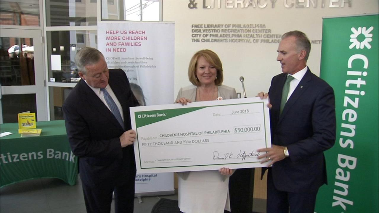 Citizens Bank donates to S. Philly CHOP Facility.