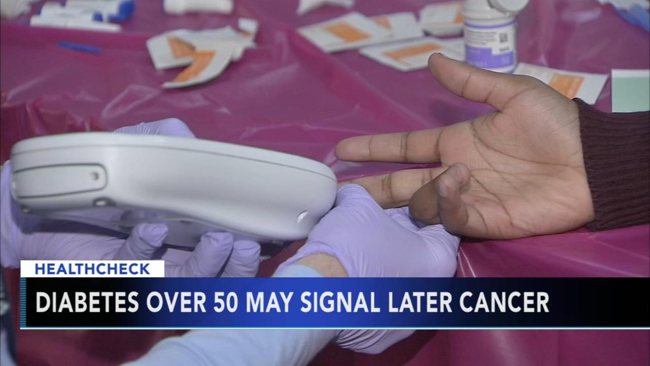 Diabetes over 50 may signal cancer later