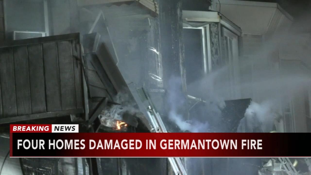 4 homes damaged in Germantown fire