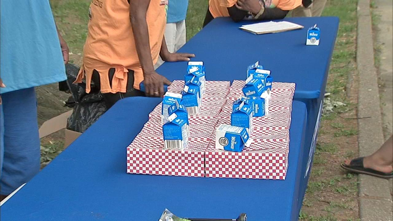 Fun Safe Philly Summer hands out free meals to children.