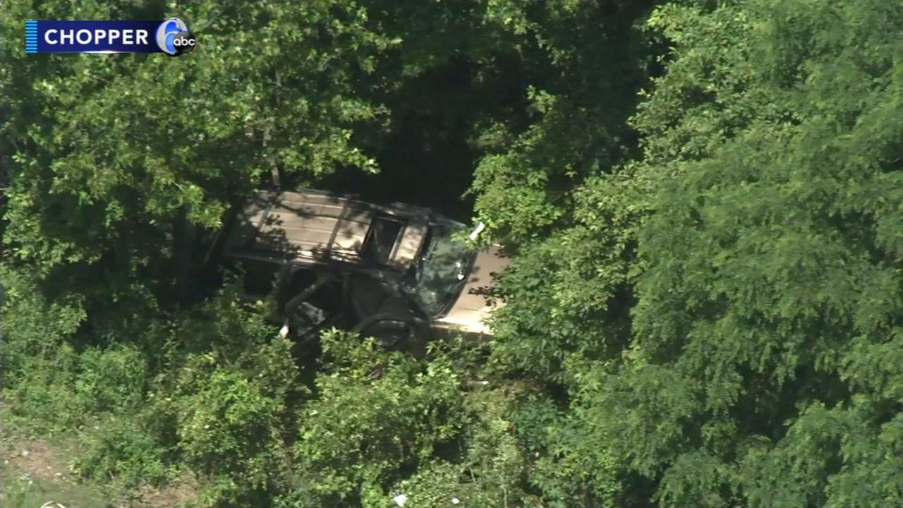 Victim dies after SUV crashes in woods off Rt. 1 SB in Falls Twp.