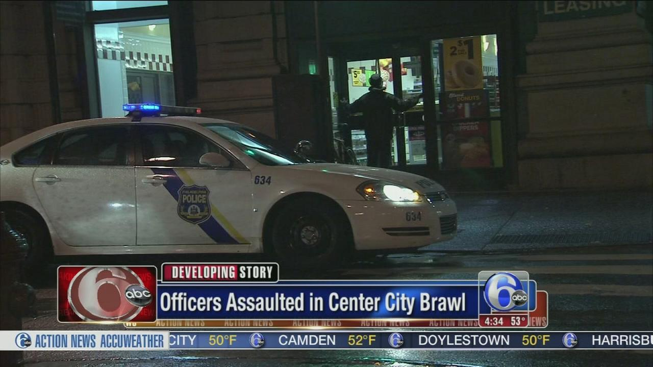 VIDEO: Officers attacked in Center City