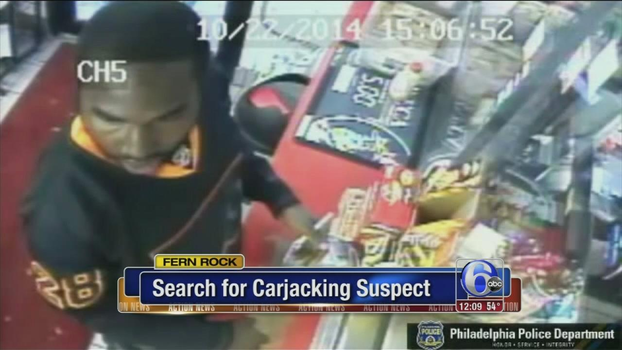 VIDEO: Search for carjacking suspect