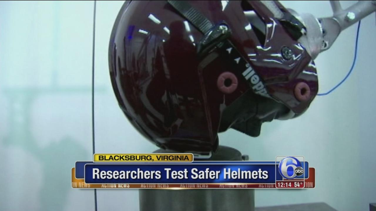 VIDEO: Researchers test safer helmets