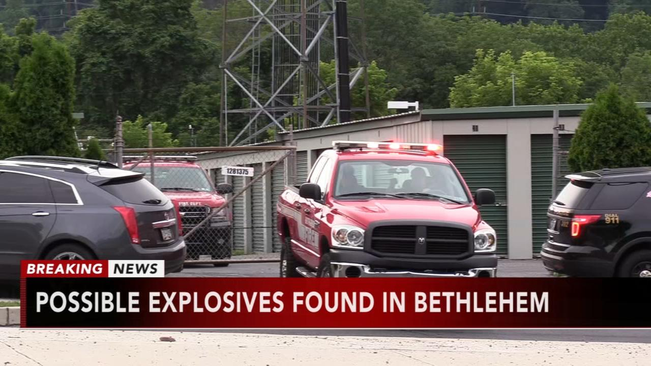 Explosives found in Bethlehem storage unit
